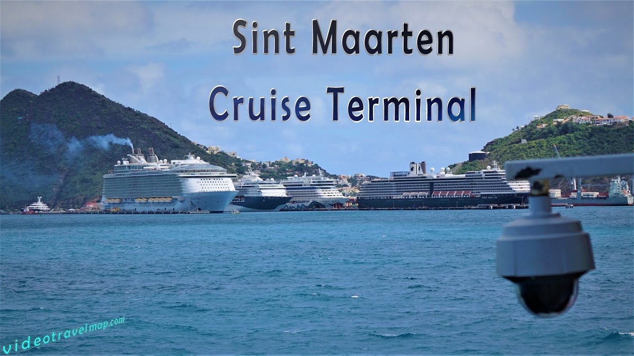 Wpływamy do portu na Sint Maarten