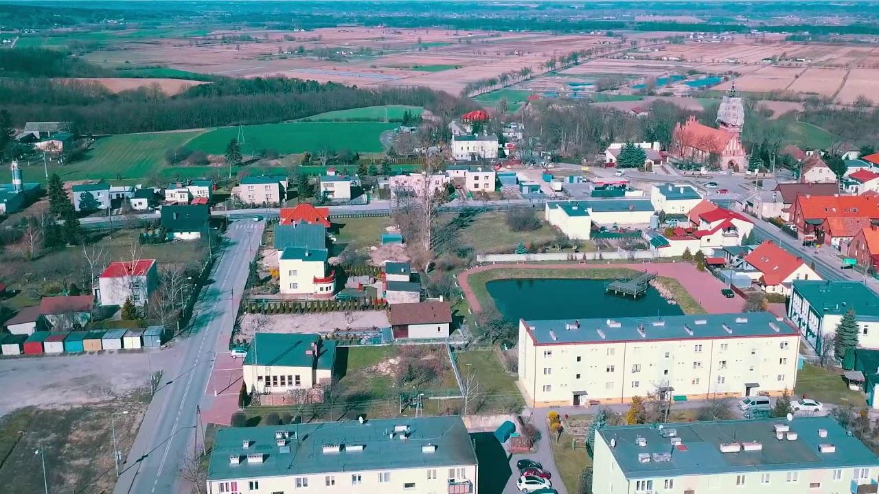 Unisław Wiosna 2020 z perspektywy drona