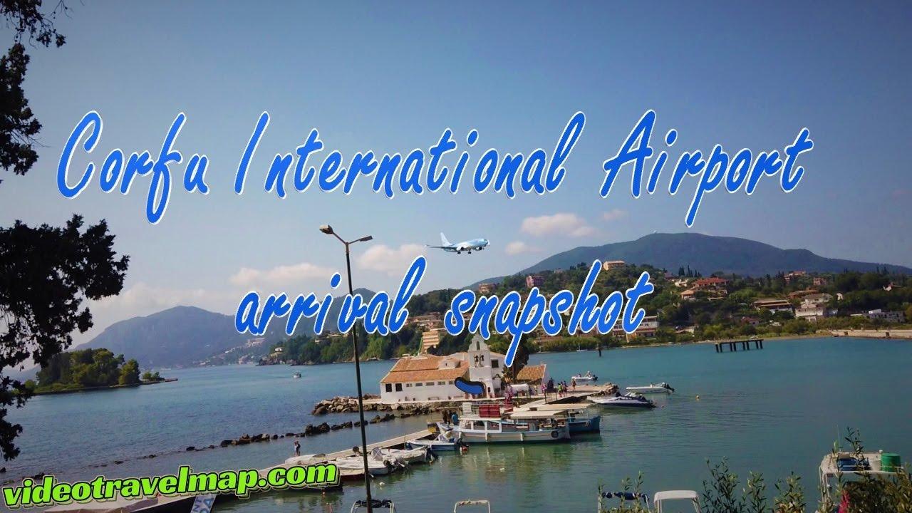 Przylot lotnisko na Korfu