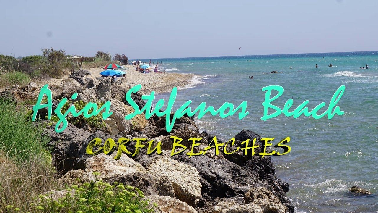 Plaże na Korfu-Agios Stefanos Beach