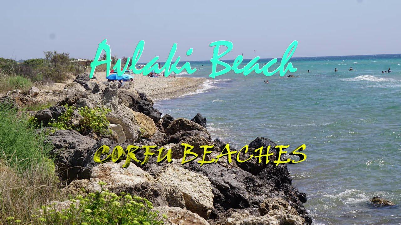 Plaże na Korfu Plaża Avlaki Beach