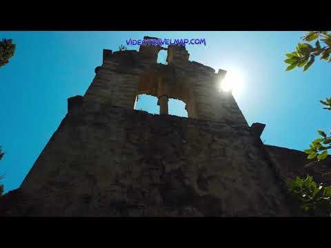 Ruiny klasztoru w Arkoudilas na Korfu