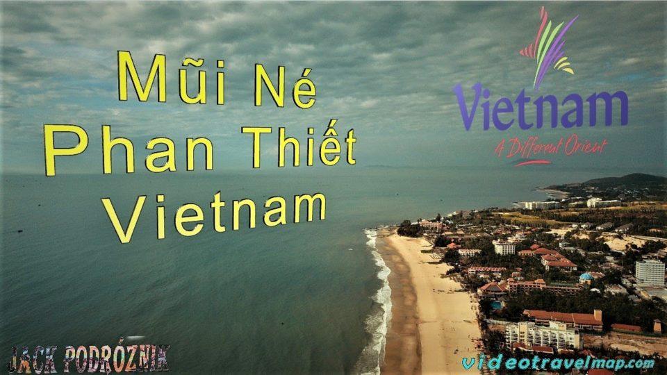 Plaża w Muin Ne we Wietnamie z drona
