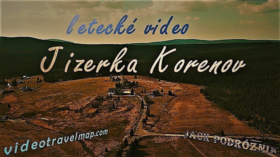 Wieś Jizerka w Czechach wideo z drona